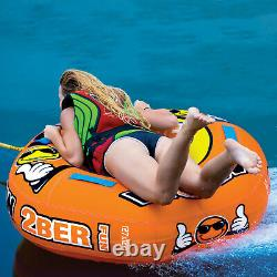 Airhead Single Rider Lake Boat Towable Tube Water With Rope And Pump Kit