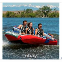 Airhead Sportsstuff Chariot Warbird 3 Rider Person Towable Inflatable Water Tube