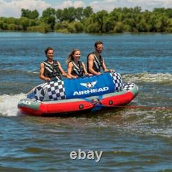 Airhead Sportuff Chariot 3 Tuyau D'eau Gonflable Remorqué Par Une Personne De Rider (utilisé)