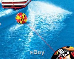 Airhead Super Tranche Gonflable Tractable Eau Tube Avec Booster Boule De Remorquage Système