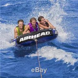 Airhead Super Tranche Gonflable Triple Rider Towable Tube Raft Eau (open Box)