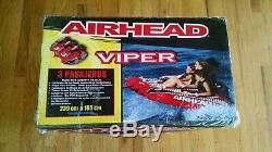 Airhead Viper 3 Triple Rider Cockpit Gonflable Tractable D'eau Du Lac Tube Ahvi-f3