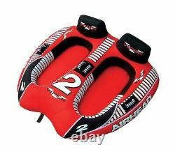 Airhead Viper Towable Tube 2 Rider 6 Stripped Nylon Outdoor Water Boating Nouveau