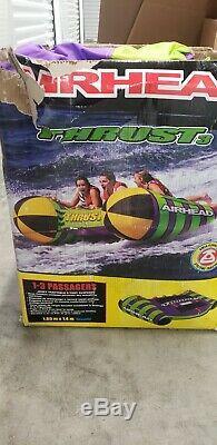Bateau Gonflable Airhead Thrust Tractable Sport Aquatique Pont Tube Intérieur, 3 Riders