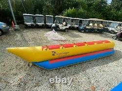 Bateau Gonflable De Banane 6 Cavalier Tube Gonflable D'eau Towable Island Hopper Traîneau