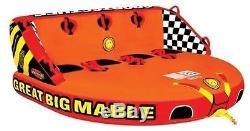 Bateau Gonflable De Tube De Cavalier De L'eau 4 De Sportsstuff Grande Mable Remorquable 53-2218