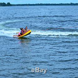 Bateau Gonflable Tube Raft Tractable 2 Personne Rider Wave Beach Équitation Tubes D'eau