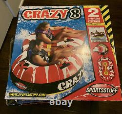 Boating Sportsstuff Crazy 8 Towable Water Tube 2 Personne Rider 53-1450