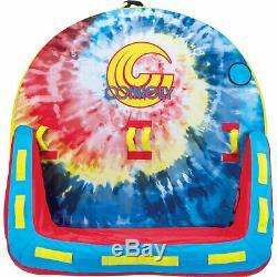 Ccb Connelly Super Fun 2 Personne 2 Way Bateau Gonflable Tractable Eau Tube Intérieur