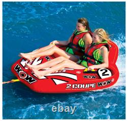 Cockpit Tube Towable Water Ski 2 Personne Coupé Inflatable Boat Water Sports Pool