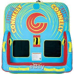 Connelly Fun 2 Personne 2 Way 65x65 Pouces Bateau Gonflable Tractable Eau Tube Intérieur