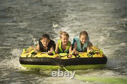 Gants De Corps Riverside 3 Personnes Yellow Water Skiing Tube Gonflable De Remorquage
