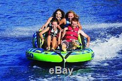 Gonflable 4 Rider Tractable Nautique Fun Eau Flottant Swim Tube Retour Rest Bleu