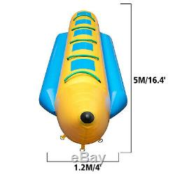 Gonflable Banana Boat 5 Rider Gonflable Tube Tractable Île Hopper Sled