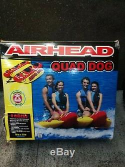 Gonflable Banana Boat Ride Tractable 4 Personne Quad Dog Tube Bâteau Float