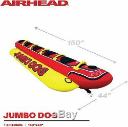 Gonflable Banana Boat Ride Tractable 5 Personne Jumbo Dog Tube Bâteau Float