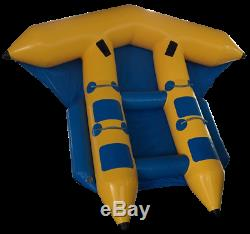 Gonflable Poissons De Mouche Ski Nautique Tractable Banana Boat Tube Pour 4 Personnes Plage