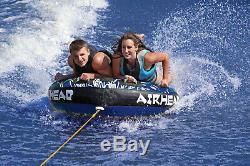 Gonflable Towable Tube Airhead 2 Rider Personne Sportsstuff Pont De Bateau Lac