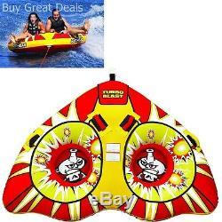 Gonflable Tractable 2 Personne Eau Tube Raft Téléski Rider Float Bateau River Lake