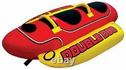 Gonflable Tractable 2 Personne Hot Dog Fun Ski Tube D'eau Du Lac Raft Banana Tour