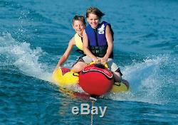 Gonflable Tractable 2 Personne Hot Dog Fun Ski Tube D'eau Du Lac Raft Banana Tour Nouveau