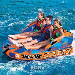 Gonflé 1 3 Personnes Towable Tube Raft Lake Sea Water Pad Mat Lounge Swim Pool
