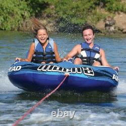 Gonfleable Float Water Sport Ski Tube Airhead 2 Rider Jet Boat Tow Raft