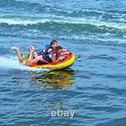 Grand 1-2 Personne Tube De Remorquage Gonflable Flotteur Eau Sport Bateau Raft Tubing Ski