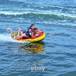 Grand Tube Towable De 1-2 Personne Gonflable Float Water Sport Boat Raft Tubing Ski