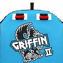 Griffin 2 Airhead Personne Gonflable En Forme Ailée Nautique Eau Towable Tube