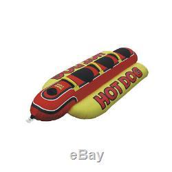 Hd-3 Airhead Hot Dog 3 Personne Tractable Eau Bateau Tube Jouet Gonflable