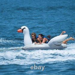 Inflatable Towable Giant Swan Tube 2 Personne Boston Valve Outdoor Water Sports