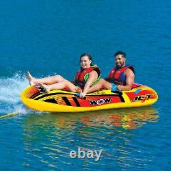 Jet Boat 2 Personnes Tube Gonflable Remorquable Salon Water-ski 17-1020 Wow Sports