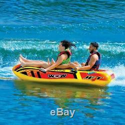 Jet Boat 2 Personnes Tube Gonflable Salon Tractable Ski Nautique 17-1020 Wow Sport