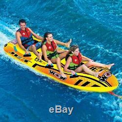 Jet Boat 3 Personnes Tube Gonflable Salon Tractable Ski Nautique 17-1030 Wow Sport