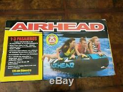 Mega Airhead Rukus 3 Personne Tractable Pont Tube Gonflable Extérieur Sports Nautiques