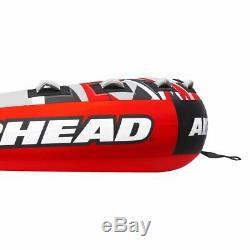 Mega Airhead Tranche Gonflable Quadruple Rider Towable Tube Raft Eau (open Box)
