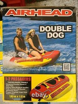 Navigation De Plaisance Banana Airhead Double Dog Bateau Tractable Eau Tube 2 Personne Rider Hd-2
