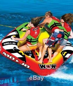 New Wow Sports Nautiques Mojo 3 Towable Tube 16-1070