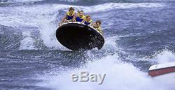 Nouveau 4 Personne Tractable Gonflable Tube Flotteur Eau Sport Bateau Raft Ski Tube Cadeau