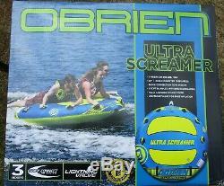 Nouveau Dans La Boîte O'brien Ultra Screamer 3 Personnes Lac / Eau Towable Tube