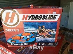 Nouveau Hydroslide Delta 2 Personnes Remorquage Tube Orange Gonflable Tractable Ski Nautique Raft