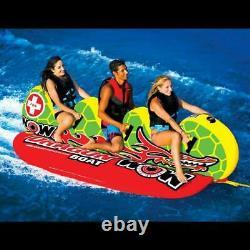 Nouveau Monde De Sports Nautiques Wow Dragon Boat 3 Rider Towable Banana Water Tube