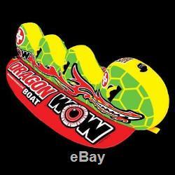 Nouveau Monde Des Sports Nautiques Wow Dragon Boat 3 Rider Tractable Eau Tube De Banane