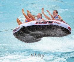 Nouveau Rave Sports 02379 Warrior 3 Water Boat Towable Tube Ski Sled Avec Garantie