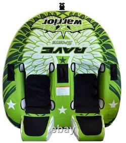 Nouveau Rave Sports 02462 Warrior 2 Water Boat Towable Tube Ski Slead Avec Garantie