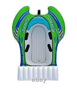 Nouveau Rave Sports 02650 Racerx Gonflable 2 Rider Tube D'eau Remorquable Avec Rave Tail