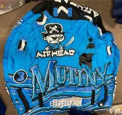 Nouveau Tube D'eau Remorquable Airhead Mutiny 3 Person