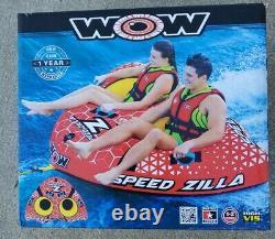 Nouveau Wow Watersports Speed Zilla 1-2 Rider Tuyau Gonflable D'eau Nouveau