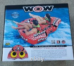 Nouveau Wow Watersports Speedzilla 1-2 Rider Tuyau Gonflable D'eau